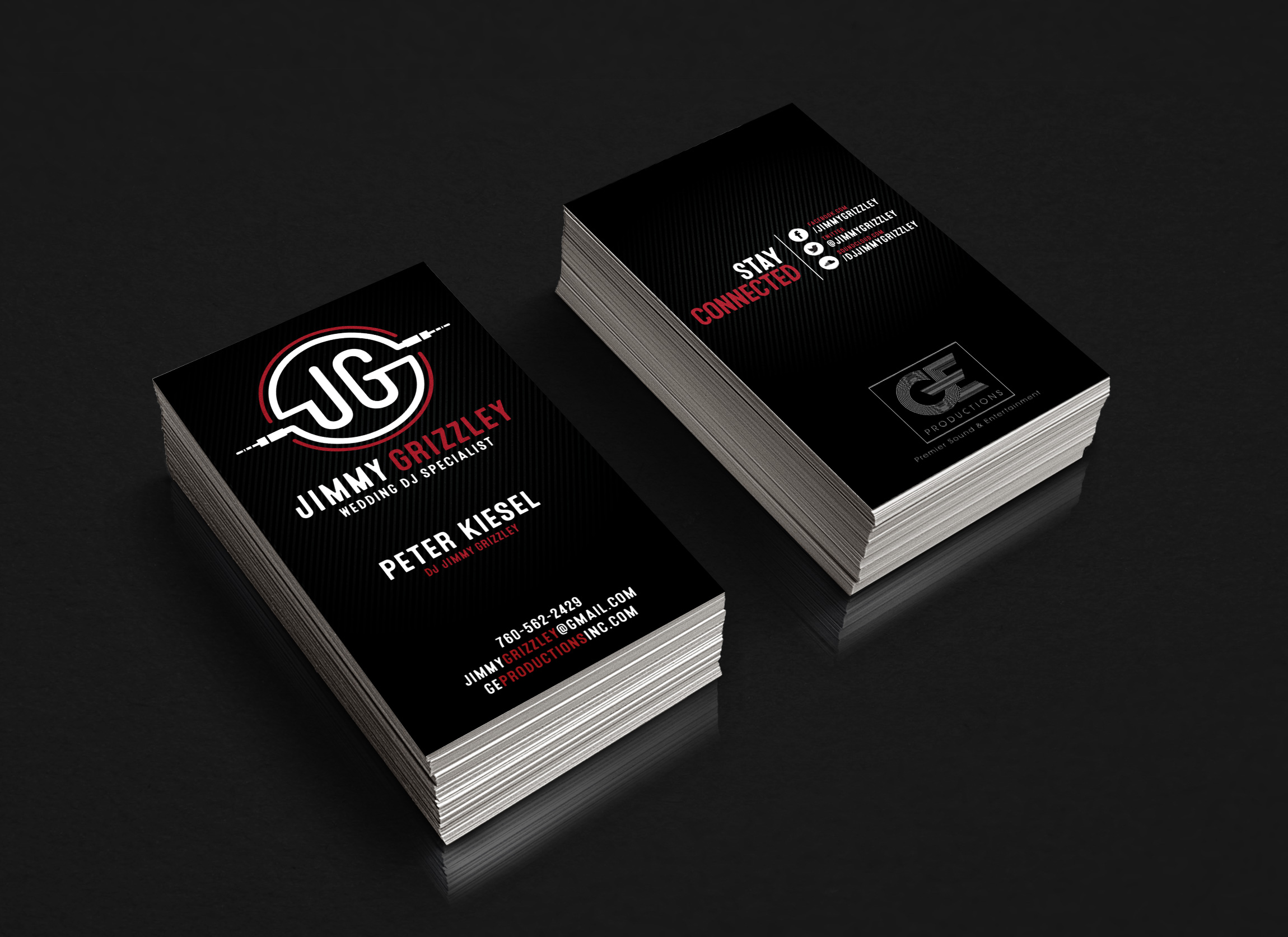 Beautiful pictures of dj business cards business cards and resume ge productions dj jimmy grizzley reheart Image collections